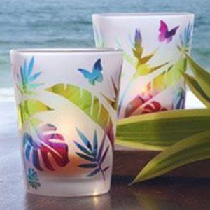 New Tropical Fun Votive Pair